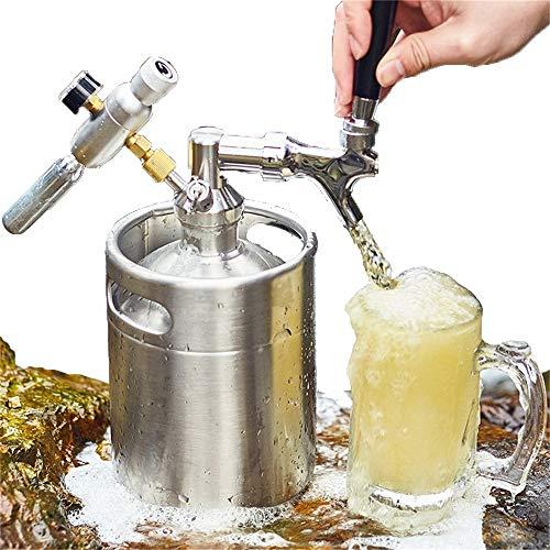 Beer Keg 2 l con erogatore rubinetto perfetto per bozze di birra, Torps birra Kegs con rubinetto, mini barretta di birra per birra fatta in casa in bar Nightclub con pompa