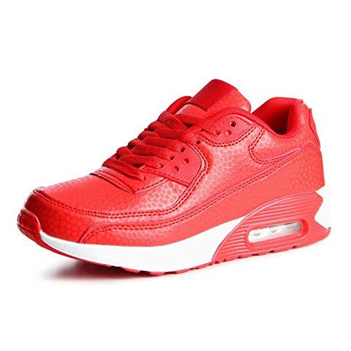 topschuhe24769Femme Sneaker Chaussures de sport Rouge - Rouge