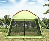ZXCVBW di Alta qualità Singolo Strato 5-8person Partito Famiglia Gardon Spiaggia Tenda da Campeggio Gazebo Sole Riparo pergola zanzariera 2 Colori, Verde