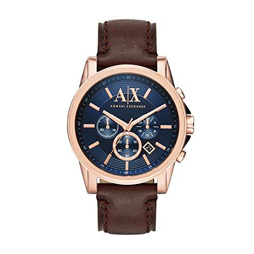 Armani Exchange Herren-Uhren AX2508 Armani Uhr Herren Braun Leder