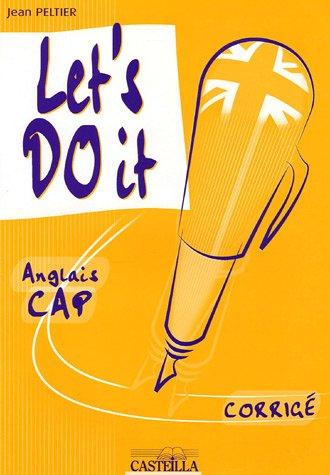 Let's do it : Anglais CAP corrigé