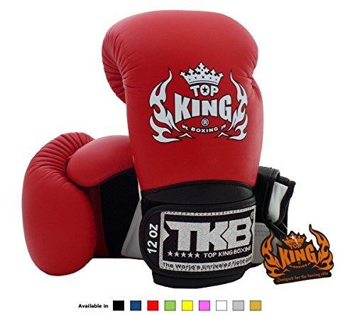 top-king-muay-thai-boxe-guanti-super-air-tkbgsa-dimensioni-8-10-12-14e-16once-colore-nero-bianco-ros
