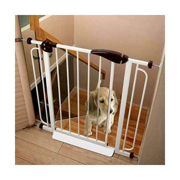 Baby Gate pet gate Door Bar Guide Fixing Sheet for Baby Door Bar Pet Fence cz hezhu eu Material: plastic Color: white Size: about 46*13*4cm/18.11*5.12*1.57in Door bar guide fixing kit: for baby or pet door, porch, stairs, etc. 1