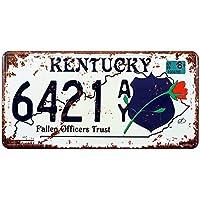 """Eureya KENTUCKY 6421 - Placa de matrícula para el coche, diseño vintage con texto en inglés """"Home/Cafe Bar/Pub/Restaurante/Exhibition Wall Decor 6"""" x 12"""""""