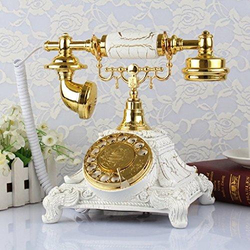 Antique Holz Telefon (WW Continental Antique Telefon Telefon Festnetz Home Telefon Retro Antikes Telefon Antik Rotary Disc,Gold BAI Wählscheibe)