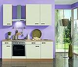 idealShopping Küchenblock mit Elektrogeräten Klassik 60 in creme 210 cm breit