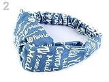 Jeans Haarband Stirnband Band Umfang light Jeans bedruckt *NEU*