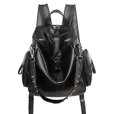 YAAGLE Damen nieten Rucksack multifunktionale Schultertasche Freizeit-Schultasche moderne Laptoptasche Reisetasche