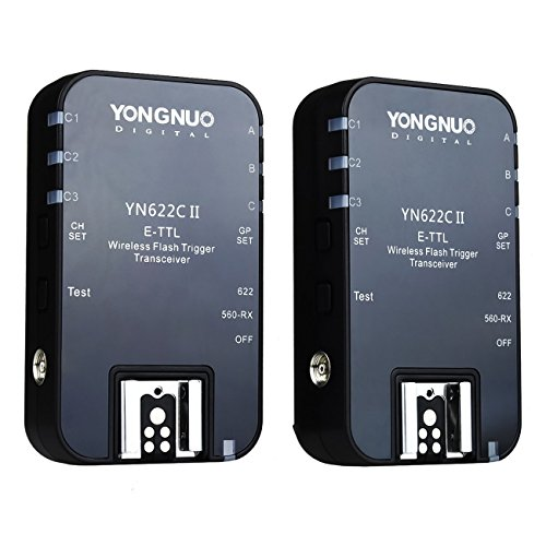 YONGNUO YN-622C II YN 622II 1/8000 E-TTL Funkauslöser Blitzauslöser Auslöser für Canon Kamera mit NAMVO Diffusor Speed Ring-strobe