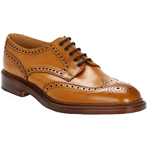 Chester Leather Brogue Shoes 10 Tan