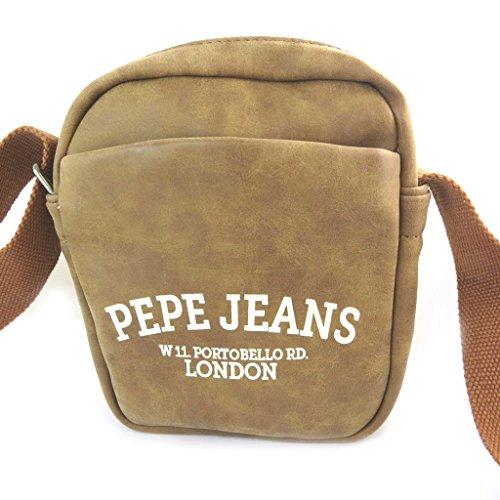 Pepe Jeans N6065 - Sac bandoulière marron vintage - 23.5x19x7 cm