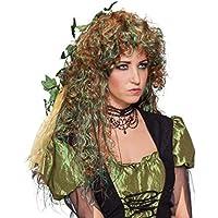 Rosa Wuschel Damenperücke Fee Perücke Elfe Wuschelkopf Punk Faschingsperücke
