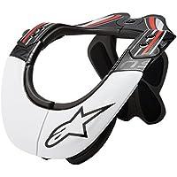 Alpinestars BNS Pro - Soporte para Cuello, Color Negro, Blanco y Rojo, Unisex Adulto, Color Negro/Blanco/Rojo, tamaño L/XL