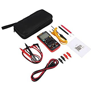 ANENG AN8009 Digital Auto Ranging Multimeters 9999 Count True RMS AC/DC Voltage HFE Electronic Meter (Red)