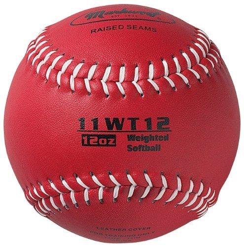 Markwort Farbkodierte Gewichteter 27,9cm Softball (ML, Maroon) von Markwort (Maroon Softball)