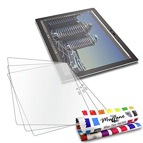 Protektoren Bildschirm für Microsoft Surface Pro 4, 3Displayschutzfolien [UltraClear] [transparent] + Eingabestift und Reinigungstuch Muzzano® angeboten-Der Schutz Display Ultimative und nachhaltige für Ihr Microsoft Surface Pro 4