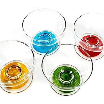 Eisglas Eisbecher  altrosa rose 14 cm Glas Schale
