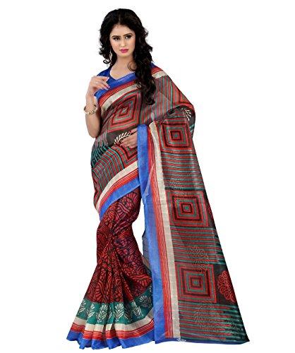 Trendz Style women printed bhagalpuri silk saree  available at amazon for Rs.449