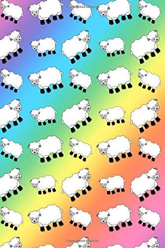 Journal: Rainbow cute sheep notebook por Brothergravydesigns