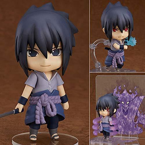 Nendoroid Figur Naruto Shippuden Sasuke Uchiha 707 10 cm Anime Actionfigur PVC Spielzeug Sammlerfigur (Kyuubi Naruto)
