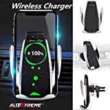AllExtreme EXWCNS5 Fast Charging Automatic Clamping Wireless Car Charger Mount Air Vent Mobile