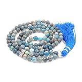 gemstone collana di perline mala, mala braccialetto, mala rosario collana, annodati collana/bracciale (apatite)