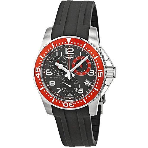 Longines Hydroconquest Quartz Chronograph Steel Mens Watch Red Bezel L3.690.4.59.2