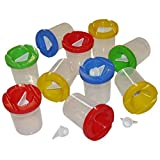 10 Non-spill Paint Pots with Lids & Stoppers by Creation Station