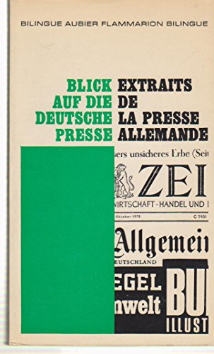 Extraits de la presse allemande par Collectif