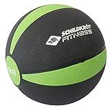 Schildkröt Fitness Medizinball 1,0 kg, Schwarz-Grün, in Sichtbox, 960061