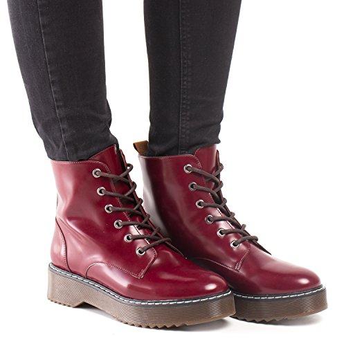 Nae Trina - Damen Vegan Stiefel (36, Rot) - 5