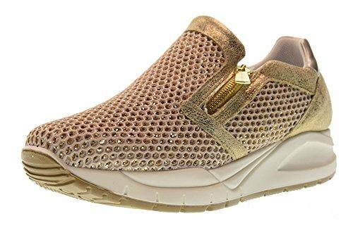 Igi&Co 11566 Platino Scarpa Donna Sneaker CON cerniere Pelle Made In Italy Memory Foam