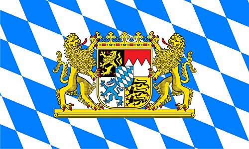 5,4 x 8,4 cm (HxB) Autoaufkleber Fahne von Bayern mit Löwen Wappen und Rauten Sticker Aufkleber fürs Auto Motorrad handy laptop (Löwen Auto Aufkleber)