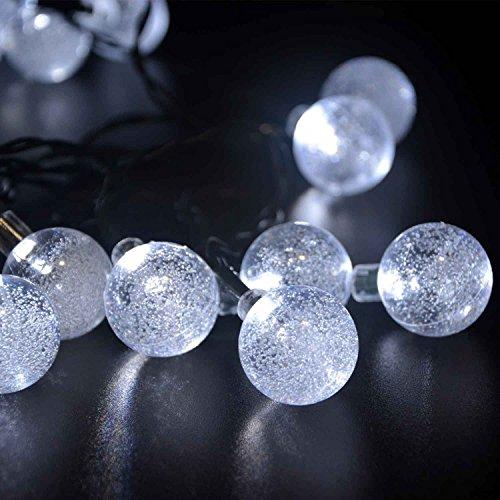 ELINKUME La bola de cristal solar 30 LED String Lights 6m hada...