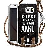 DeinDesign Samsung Galaxy S6 Carry Case Hülle Zum Umhängen Handyhülle mit Kette Akku Handy Phrases