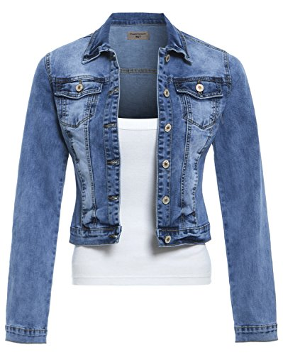SS7 Frauen Stretch Jeansjacke,Sizes 8 to 14 - Denim Blau, 40 / L -