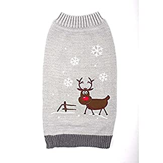 ancol grey dog winter sweater with christmas reindeer and snowflakes (extra small (980536)) Ancol GREY Dog Winter Sweater with Christmas Reindeer and Snowflakes (Extra Small (980536)) 513TIRjK7EL
