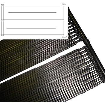 POOL Solarheizung SOLAR Kollektor Schwimmbad Heizung 620x75cm Modell ELECSA 9466