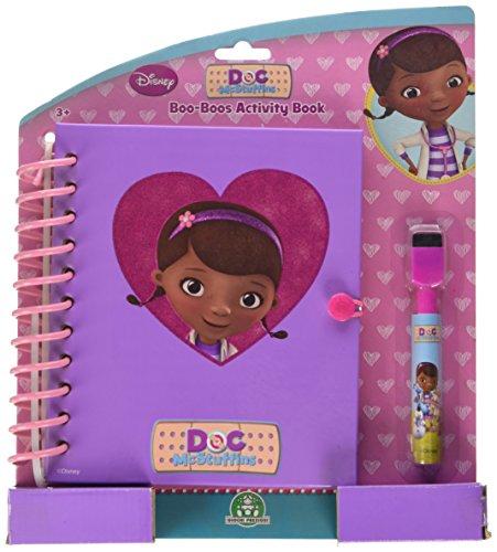 1431 - Doc McStuffins Boo Boo Aktivität Buch das wischen sauberes Notizbuch (Stuffy Doc Mcstuffins)