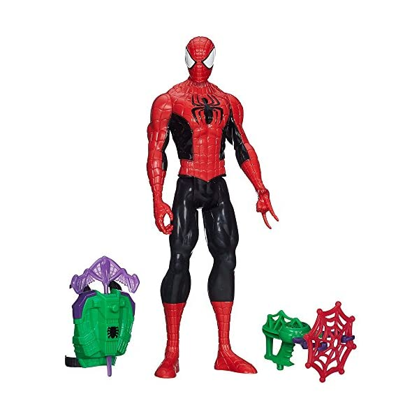 Hasbro Spider-Man - Figura Titan con Equipo Lanza Redes 2