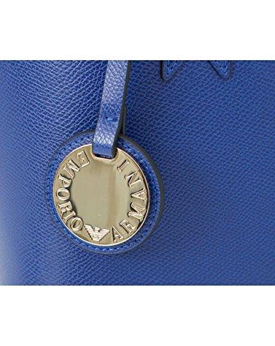 Emporio Armani Frida Piccola Shopper In Eco Pelle Blu
