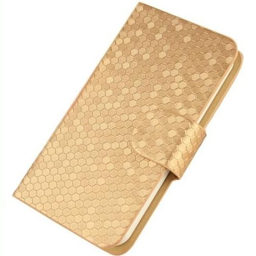 iPhone 8 Glitz Flip Cover Case Coque de Protection Housse Couverture en cuir artificiel (bleu) + 1x Gratuit Protecteur D'écran Gold