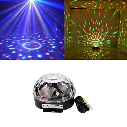Gaddrt Kreative DJ Lamp MP3 Play LED Kristall Magic Ball Projektor Bühne Show Light Club KTV (A)