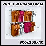 300x200x40 PROFI KLEIDERSTÄNDER BEKLEIDUNGSSTÄNDER GARDEROBENSYSTEM-P300