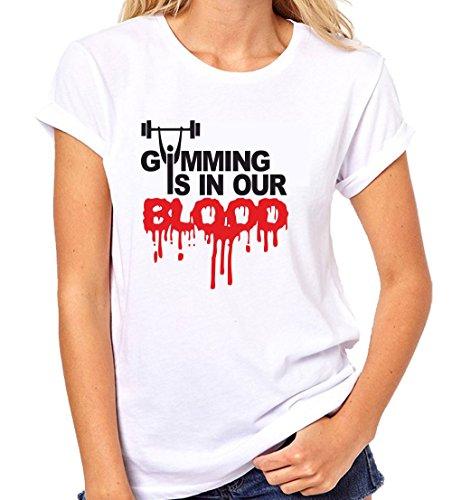 Crazy Sutra Half Sleeve Casual Printed Unisex Boy's/Girl's/Men's/Women's Gym Tshirt |Funky Tshirts [T-GymmingInOurBlood_XL_W]