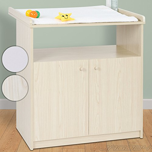 Infantastic Baby Changing Unit (Beech) Nursery Furniture Chest Table with Storage Space
