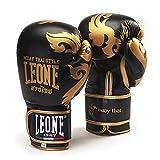 Leone 1947Muay Thai Boxhandschuhe schwarz (12Oz)