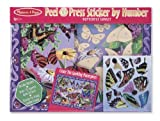 #6: Melissa & Doug Peel and Press Sticker by Number - Butterfly Garden, Multi Color