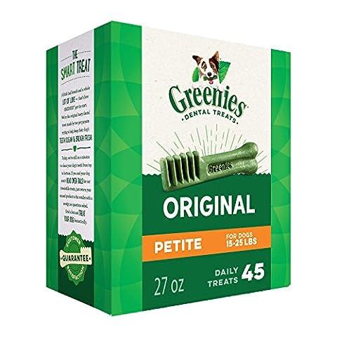 GREENIES Dental Chews Petite Treats for Dogs - TREAT-PAK Package 27 oz. 45 Treats