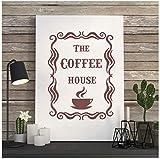 Englisch Design Wanddekor Kaffee Haus Vinyl Wandtattoo Coffee Shop Wandaufkleber Küche Fliesen Wohnkultur Wandbild Wandkunst Poster 45 * 60 Cm